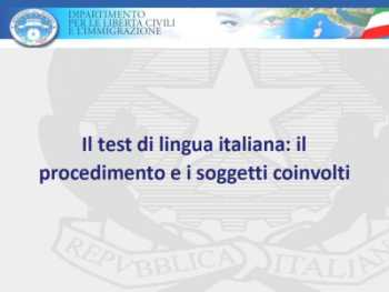 Test di ascolto italiano infissi del bagno in bagno for Questura di milano ufficio immigrazione rinnovo permesso di soggiorno